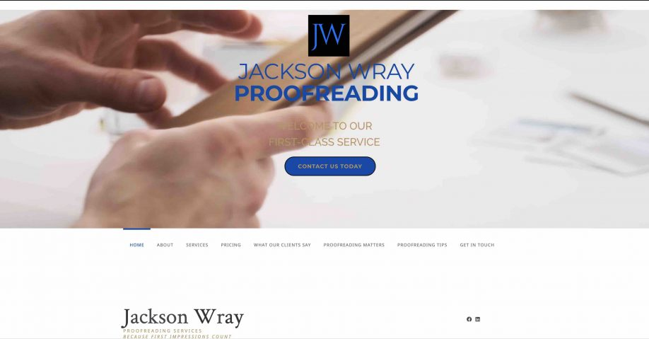 Jackson Wray website built by local website company Ballymena Website design
