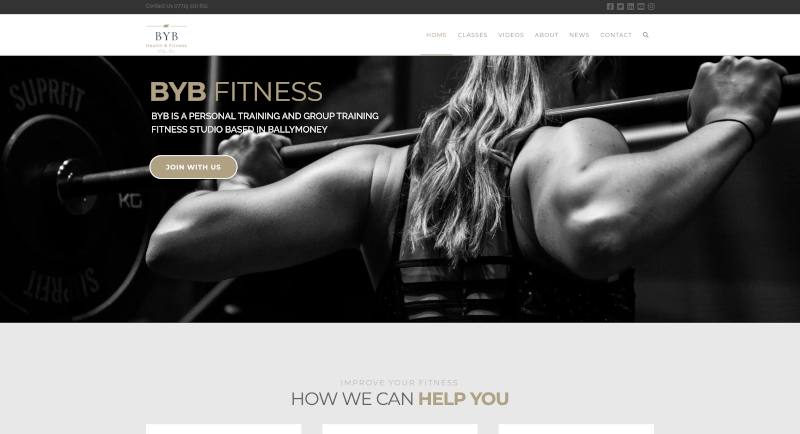 Local website creates a new gym website